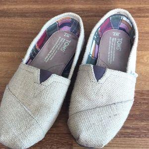 Toms burlap shoe